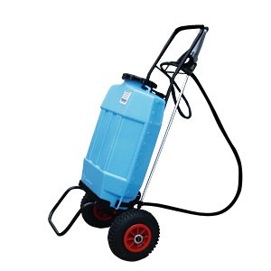 Mobile battery powered sprayer for professionals 18 liters 4 bars
