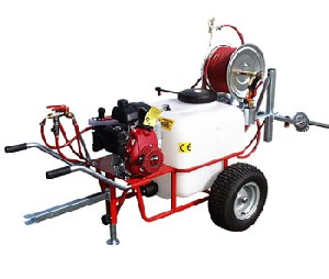 Wheelbarrow sprayer with 100L tank, gasoline 20 bar
