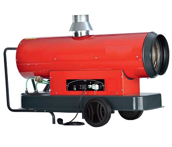 Mobile hot air boiler/fuel oil with chimney Master GP 25 kW