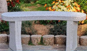 Granite stone bench gray 100x35x44 cm