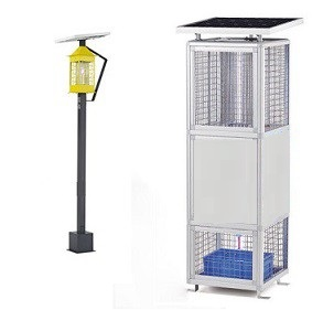 Solar powered insect killer in lamp
