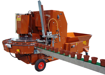 Potting Machine Plus (inclusive of pot magazine, mechanical conveyer and 3 m band)